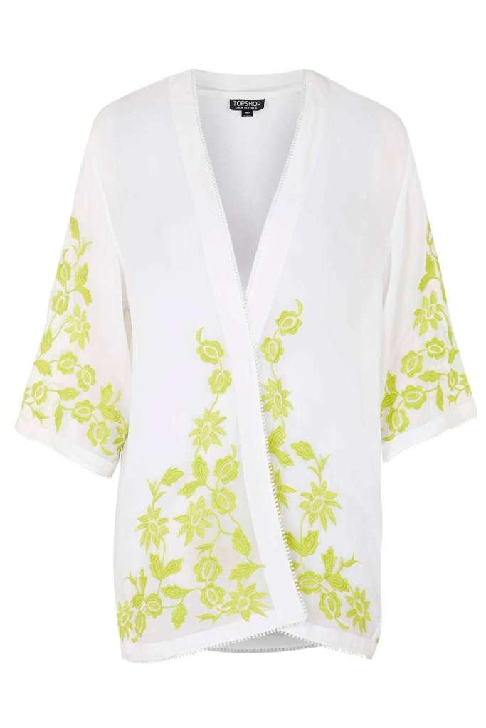 Topshop Embroidered Kimono