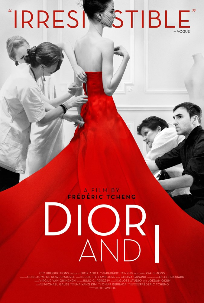 DIOR AND I, international poster art, far right: Raf Simons, 2014. ©The Orchard